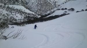 In the gully below Eagle Ridge.