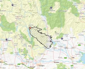 The fire as at 19 Jan. Despite some claims from the usual (anti green) sources, the fire didn't start in a national park.