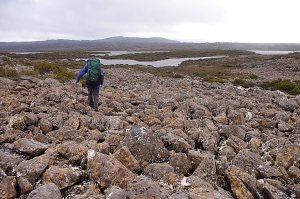the boulderfield under Blue Peaks