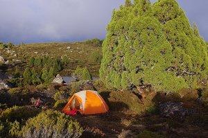 camp at Long Tarns