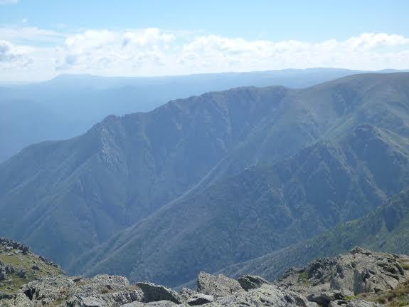 Watson Crags viewed from Alice Rawson Peak