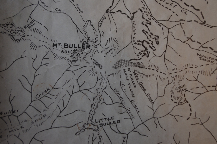 Mt Buller, 1959. Before the ski runs changed the mountain