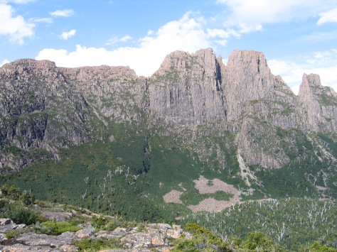The west face of Geryon from the Ducane Range (the main route in from Pine Valley)