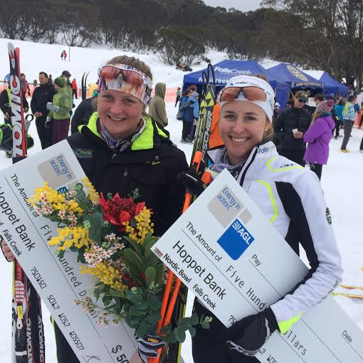 Casey and Kat blitz women's XC skiing