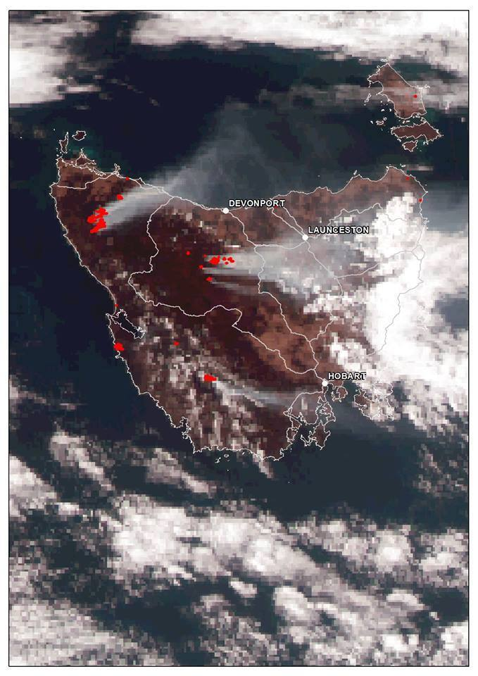 satellite image of the fires