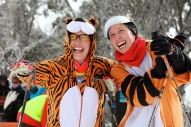 The Blanch sisters at the 2012 Kangaroo Hoppet at Falls Creek.