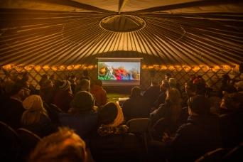 Cradle Mountain Film Festival - Forest Yurt Cinema Photo Pete Wyllie