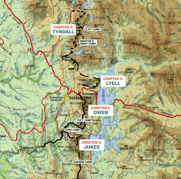 Tyndall walk map