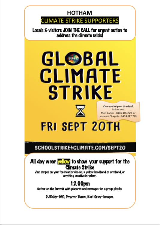 Hotham strike poster